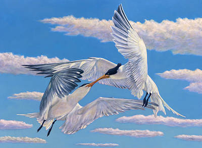 Painting - Flying Kiss by James W Johnson