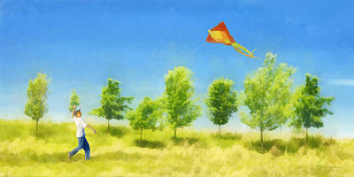 Digital Art - Flying Kite by Francesa Miller