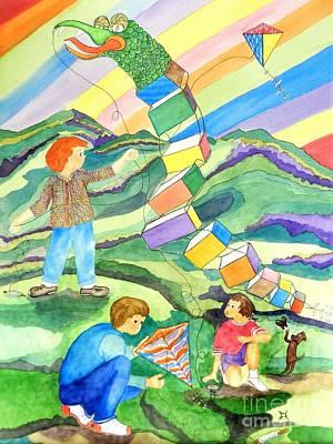 Flying Kites Original by Puente