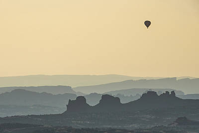 Photograph - Flying Over A Southwestern Landscape by Gregory Ballos