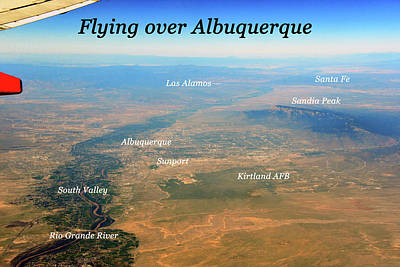 Photograph - Flying Over Albuquerque  by David Lee Thompson