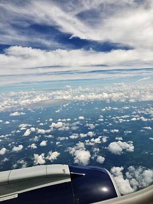 Photograph - Flying Over Nc by Eileen Brymer