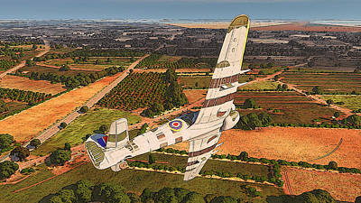 Painting - Flying Over Normandy - Hawker Typhoon by Andrea Mazzocchetti