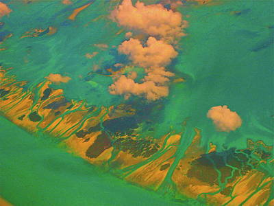 Photograph - Flying Over The Keys, Florida by Monique's Fine Art