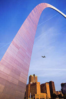 Photograph - Flying Over The Saint Louis City Skyline by Gregory Ballos