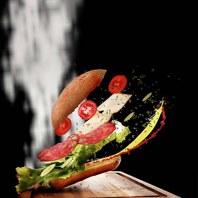 Photograph - Flying Sandwich by Christine Sponchia