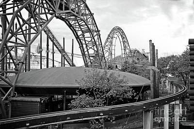 Photograph - Flying Saucer Landing On A Roller Coaster by Doc Braham