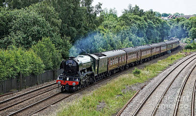 Photograph - Flying Scotsman Approaching Chesterfield by David Birchall
