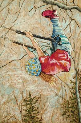 Canadian Art Drawings Drawing - Flying So High by Christine Marek-Matejka