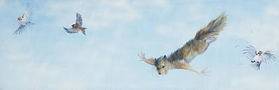 Painting - Flying Squirrel by Beth Davies