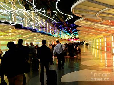 Airport Concourse Photograph - Flying Through O R D by David Bearden