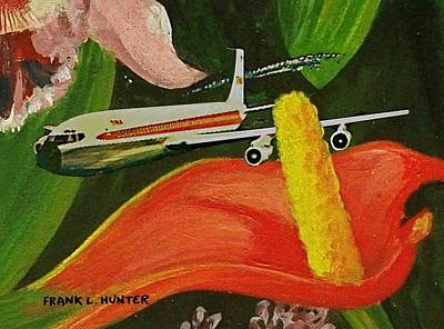 Painting - Flying Through The Flora by Frank Hunter
