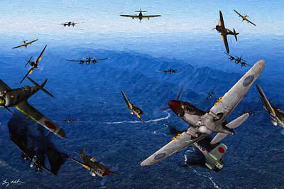 Flying Tiger Strike Oil Art Print