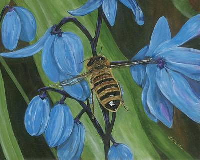 Painting - Flying To Siberian Squill by Lucinda VanVleck