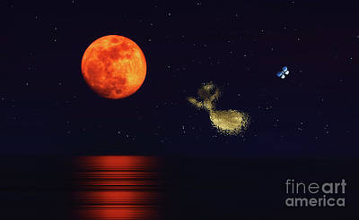 Photograph - Flying To The Moon by Charline Xia