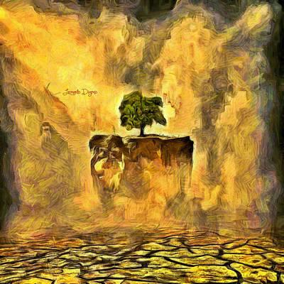 Flying Tree Print by Leonardo Digenio