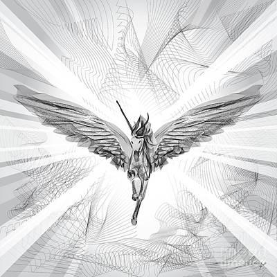 Flying Unicorn Art Print by Stavri Symeonidou