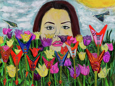 Painting - Flying V Garden  by Lindsay Strubbe