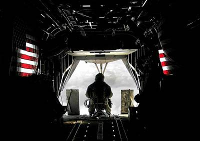 Photograph - Flying With The Stars And Stripes In Afghanistan by Jetson Nguyen