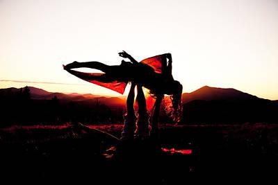 Flying Yoga Art Print by Scott Sawyer