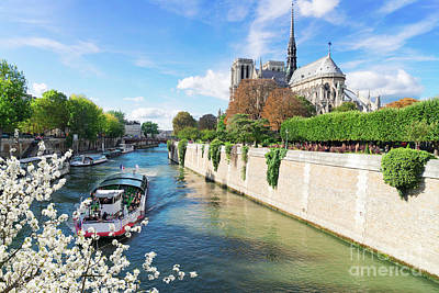 Photograph - Notre Dame Cathedral At Spring by Anastasy Yarmolovich