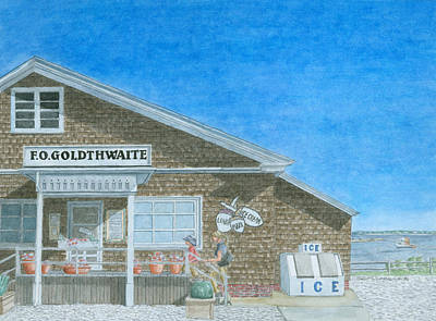 Coastal Maine Painting - F.o. Goldthwaite by Dominic White