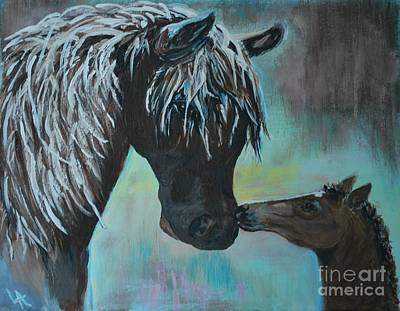 Painting - Foal Kiss by Leslie Allen