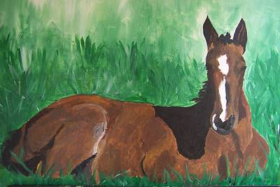 Art Print featuring the painting Foal by Krista Ouellette