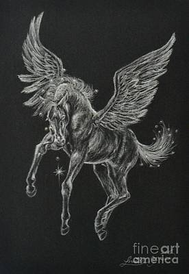 Drawing - Foal Of The Falling Star by Louise Green