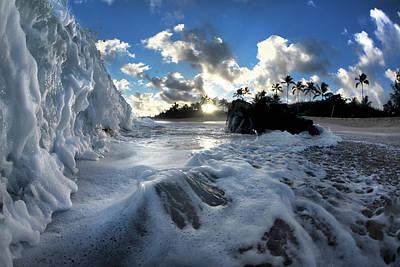 Photograph - Foam Climb by Sean Davey