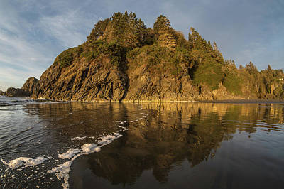 Photograph - Foam Line To Moonstone Beach Reflections by Greg Nyquist