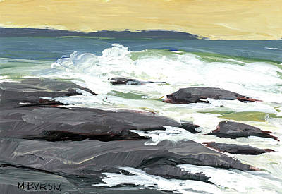 Painting - Foamy Billows by Mary Byrom