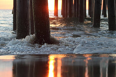 Photograph - Foamy Waters Under The Pier by Robert Banach