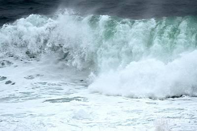 Photograph - Foamy Wave Crash by Adam Jewell