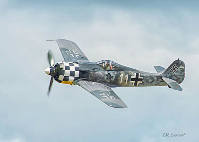 Photograph - Focke-wulf Fw190 by CR  Courson