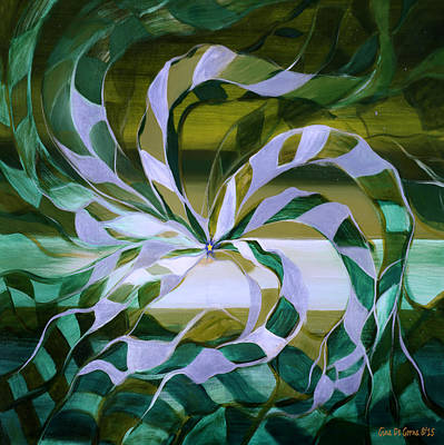 Painting - Focus - Abstract In Green And Yellow by Gina De Gorna