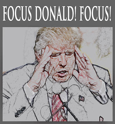 Digital Art - Focus Donald Focus by Jeff Brunton