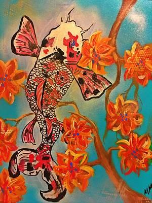 Painting - Focus Flower  by Miriam Moran