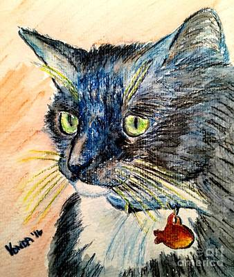 Watercolor Pet Portraits Mixed Media - Focus Intent by Vonda Lawson-Rosa