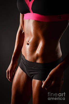 Female Bodybuilder Photograph - Focus On Abs by Jt PhotoDesign