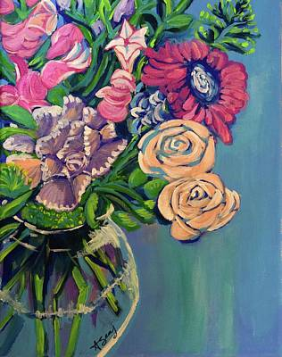 Abstract Realism Painting - Focus On Rose by Anne Seay