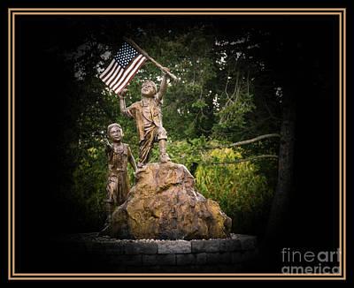 Photograph - Focus On The Flag 2 by Grace Grogan