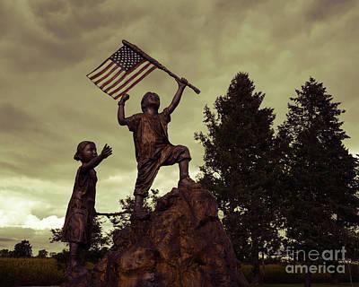 Photograph - Focus On The Flag by Grace Grogan