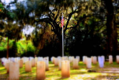 Photograph - Focus On The Flag by Lisa Wooten
