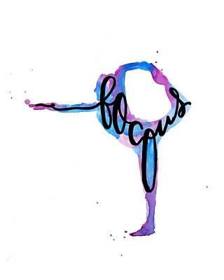 Yoga Painting - Focus Yoga Art by Michelle Eshleman