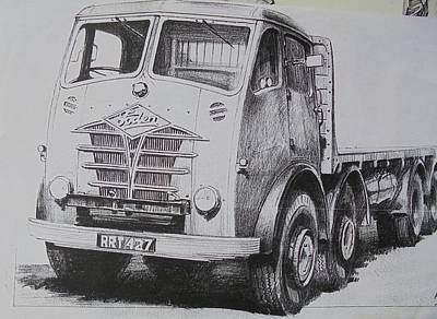 Drawing - Foden Eight. by Mike Jeffries