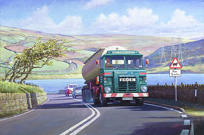 Painting - Foden In The Lake District by Mike Jeffries