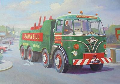 Painting - Foden Pannell Breakdown. by Mike Jeffries