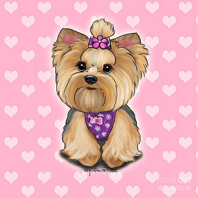 Puppies Digital Art - Fofa Hearts by Catia Cho