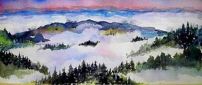 Painting - Fog  Above by Esther Woods